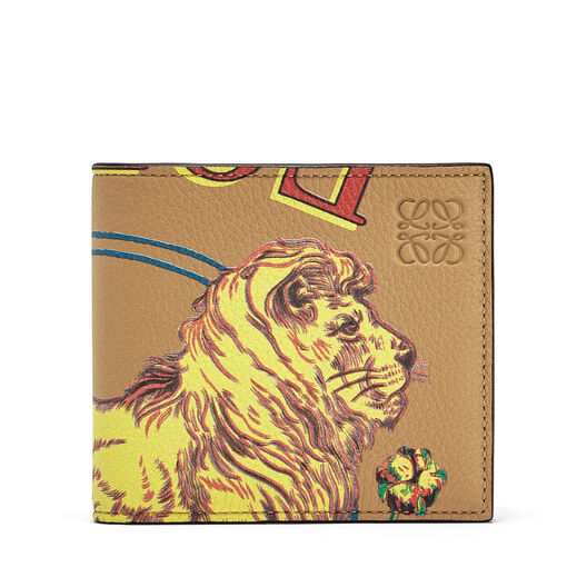 LOEWE Bifold Wallet Lion Desert all