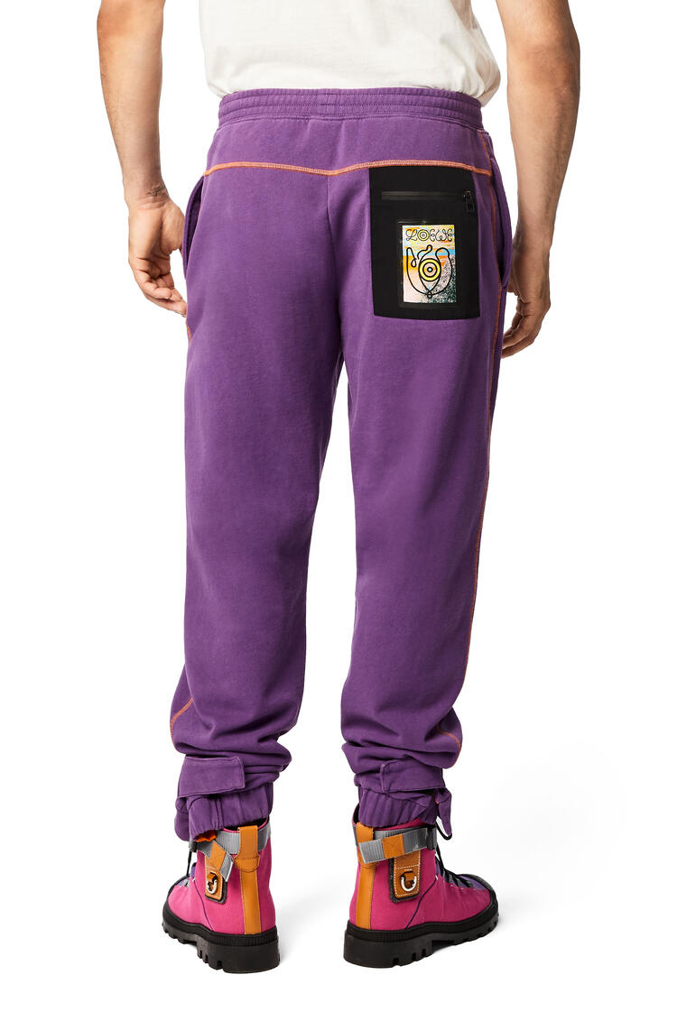LOEWE Fleece Trousers In Cotton Lavender pdp_rd