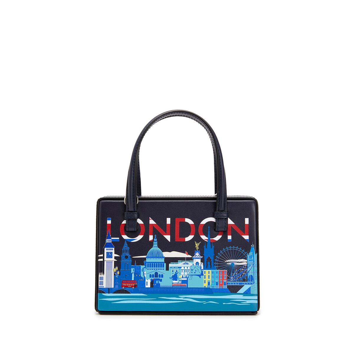 LOEWE Postal London Small Bag Midnight Blue front
