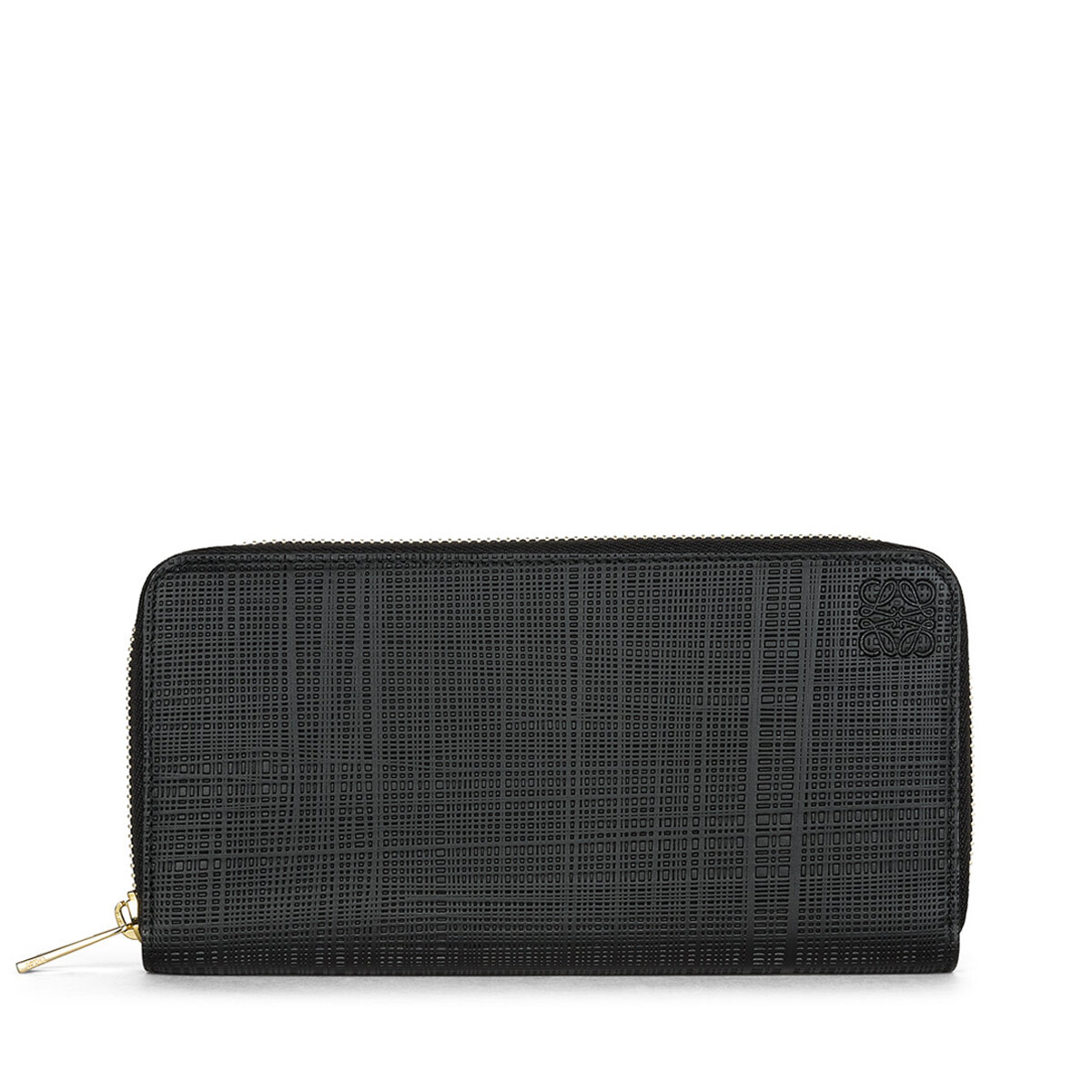 LOEWE Linen Zip Around Wallet 黑色 front