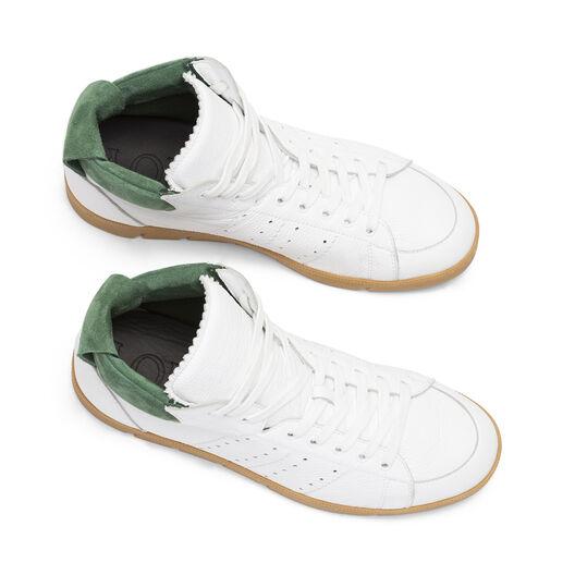 LOEWE High Top Sneaker White/Green all