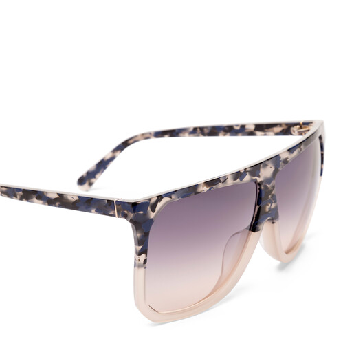 LOEWE Filipa Sunglasses Blue Havana/Light Grey/Gradien front