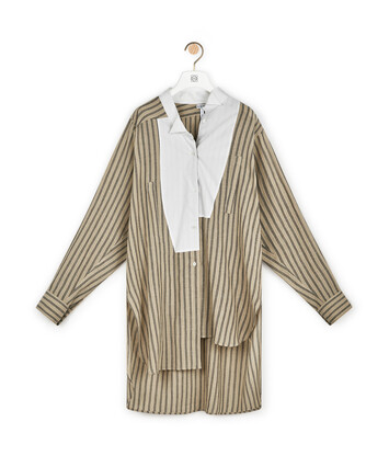 LOEWE Long Stripe Asym Shirt Arena/Marron front