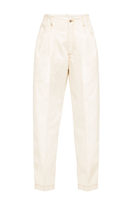 LOEWE Denim Trousers Botanical Blanco front