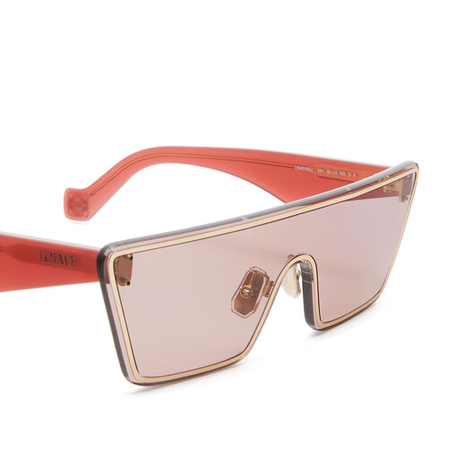 LOEWE Small Mask Sunglasses antique rose front