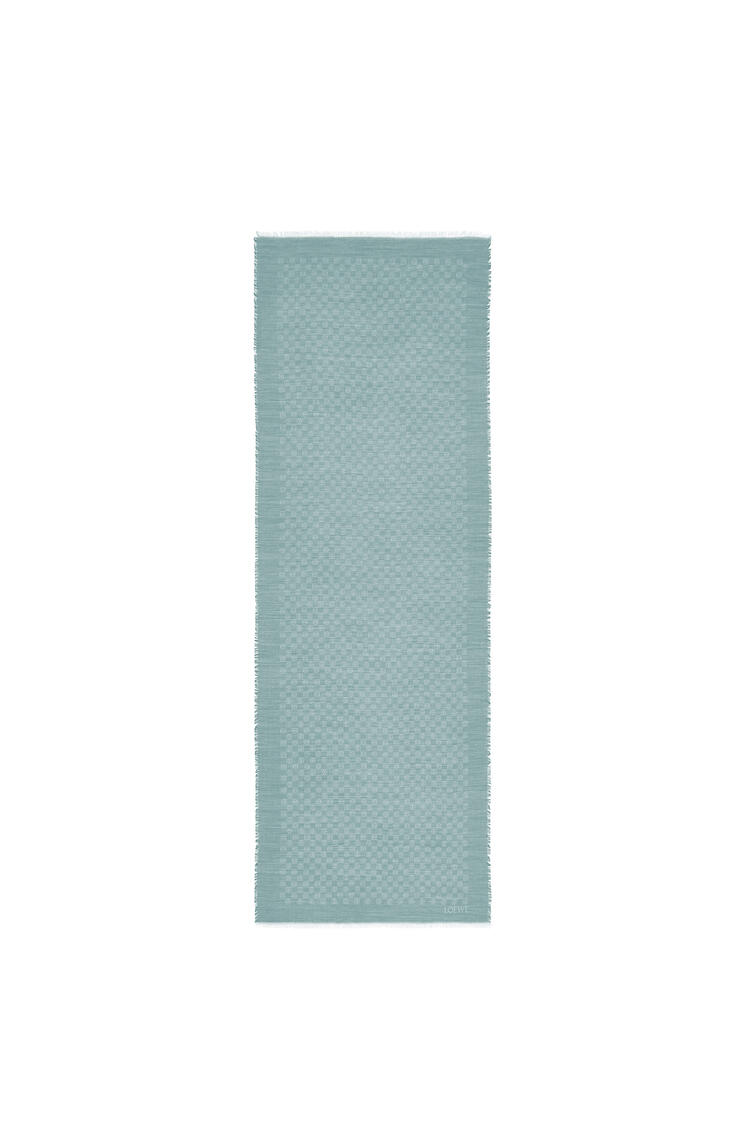 LOEWE Anagram scarf in wool and silk Grey Blue pdp_rd