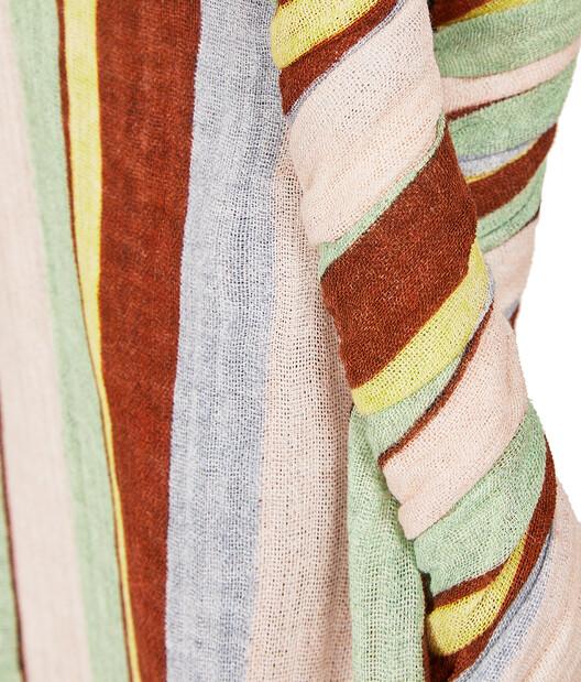 LOEWE Stripe Top Pink/Green/Light Blue front