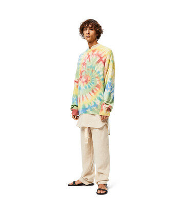 LOEWE Sweater In Tie Dye Cashmere Multicolor/Green front
