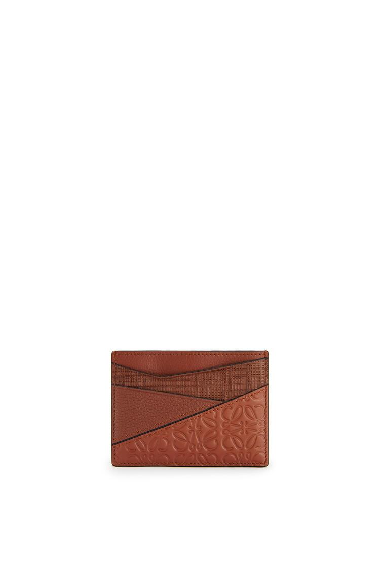 LOEWE Puzzle Plain Cardholder In Calfskin Cognac pdp_rd