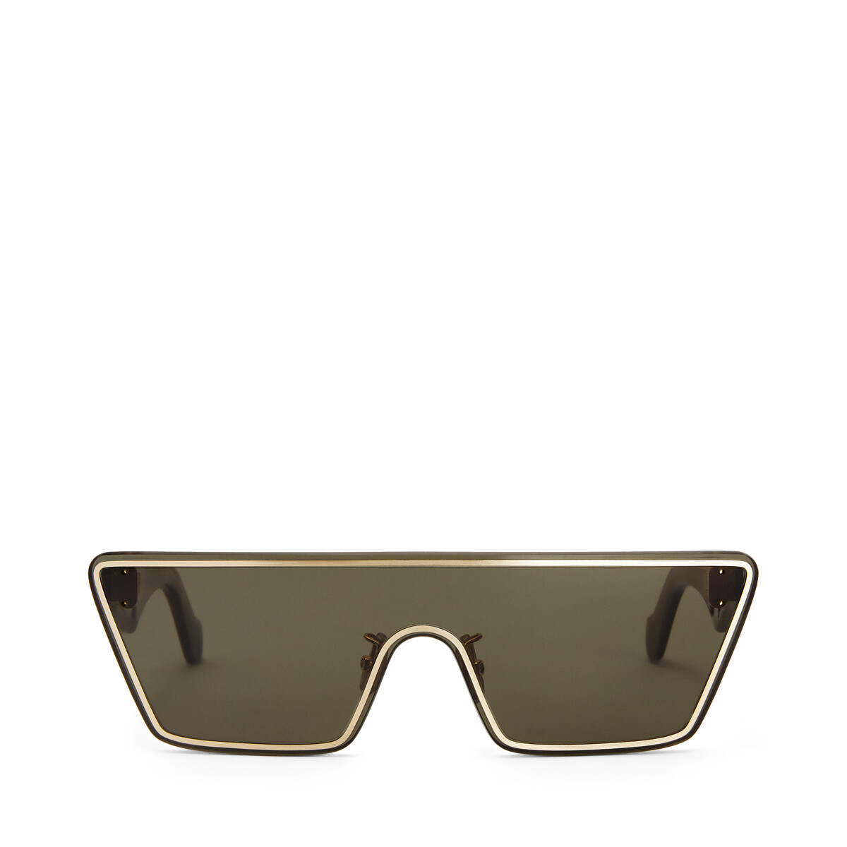 LOEWE Small Mask Sunglasses Moss Green front