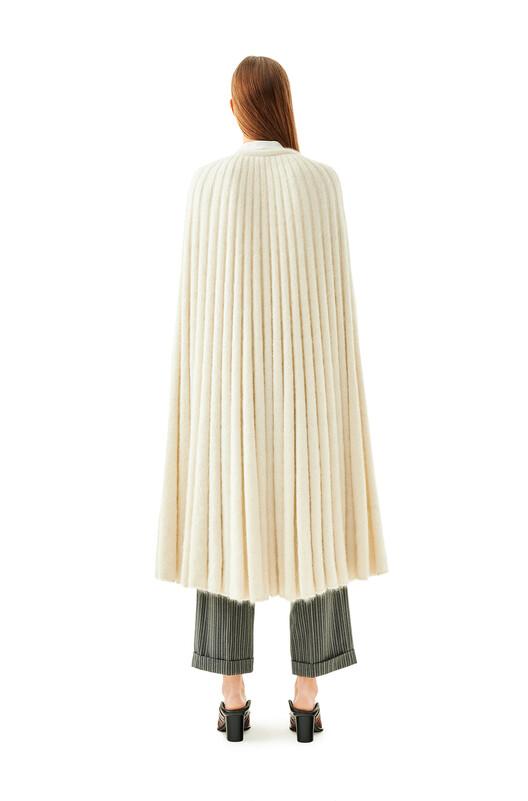LOEWE Knit Cape Ecru front