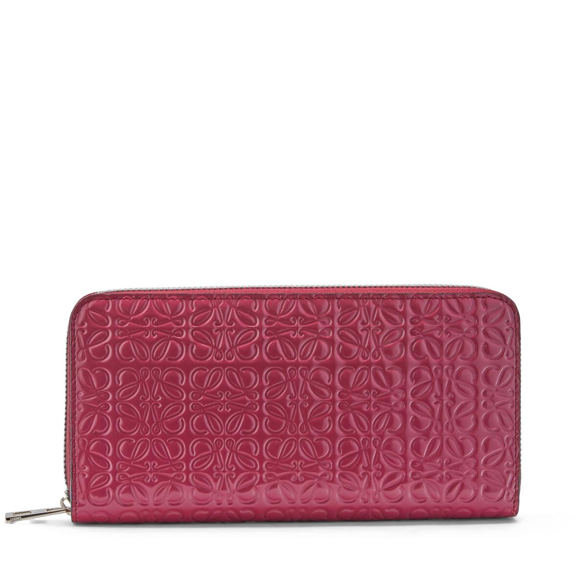 LOEWE Zip Around Wallet Raspberry front
