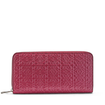 LOEWE Zip Around Wallet 覆盆莓色 front