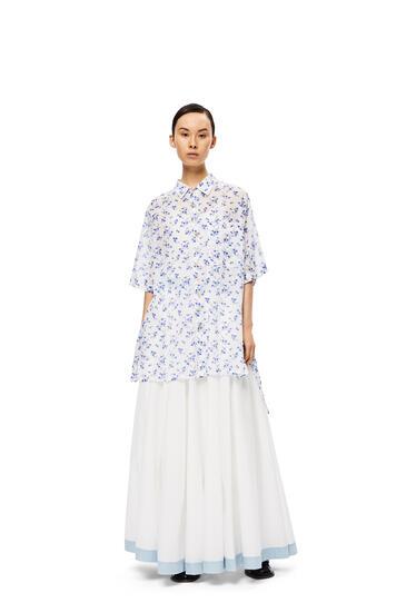 LOEWE Circle skirt in cotton White/Blue pdp_rd