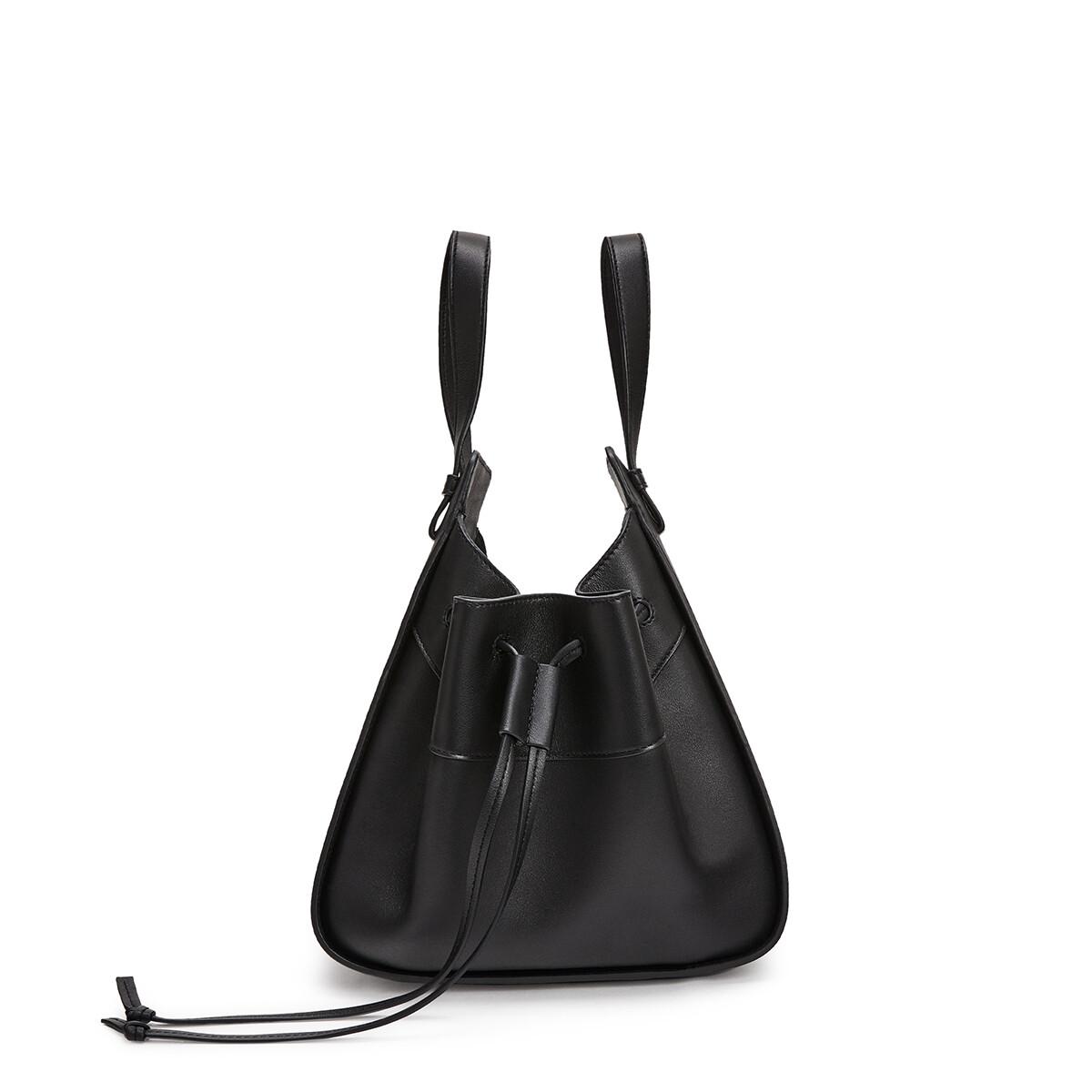 LOEWE Hammock Drawstring Small Bag Black front