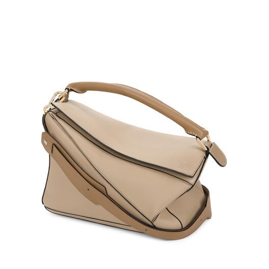 LOEWE Puzzle Bag Sand/Mink Color front