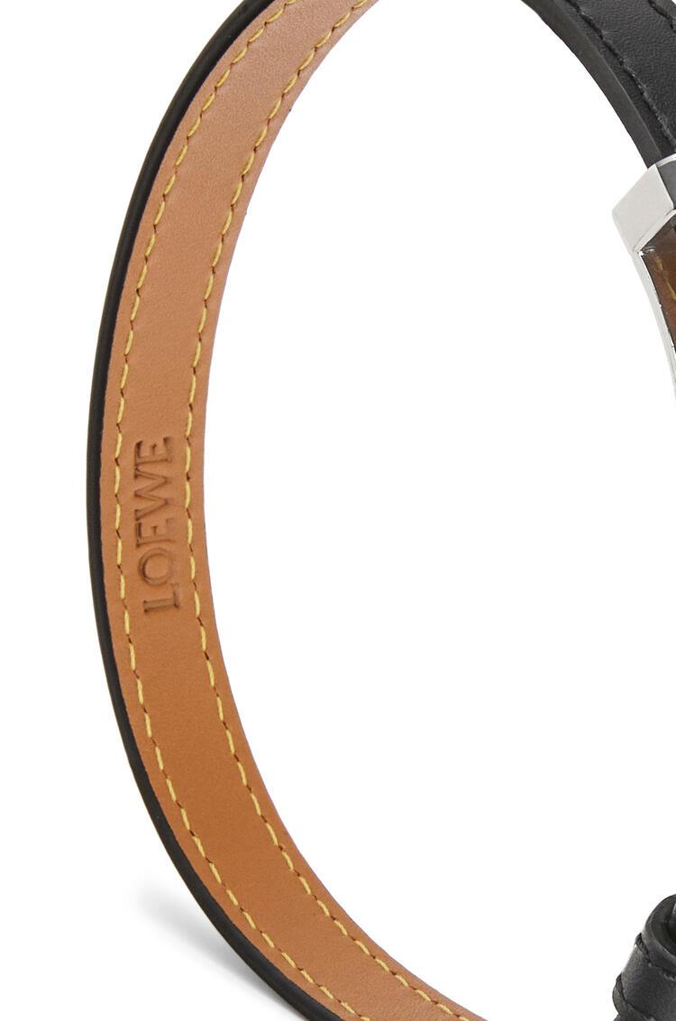 LOEWE Double bracelet in calfskin 黑色 pdp_rd