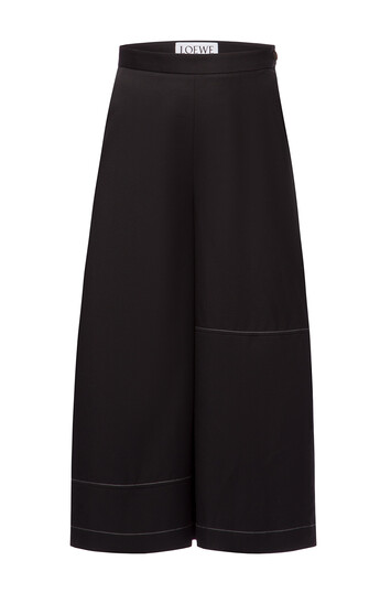 LOEWE Culotte Trousers Black front