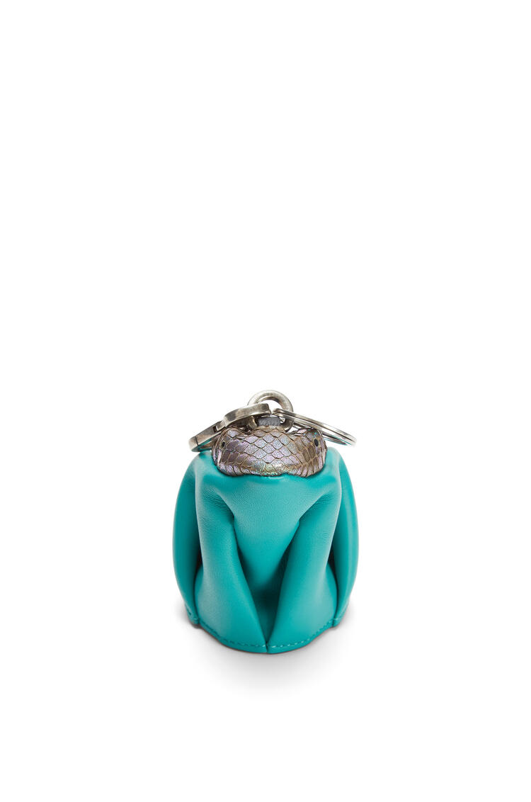 LOEWE Frog charm in calfskin and snakeskin Emerald Green pdp_rd