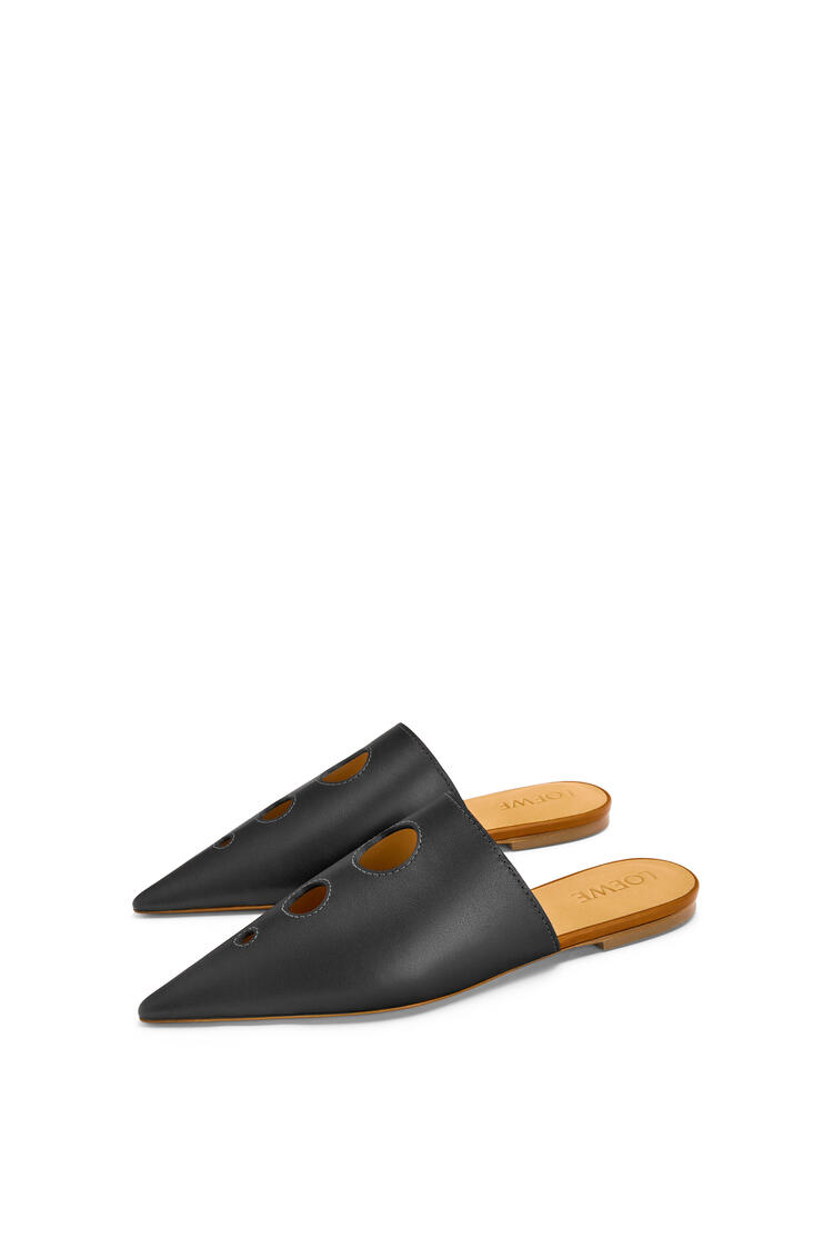 LOEWE Perforated pointy slide in calfskin Black pdp_rd