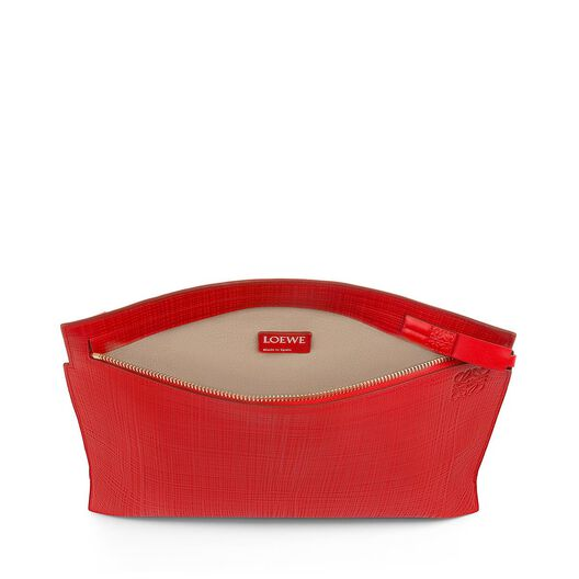 LOEWE T Pouch Linen Primary Red all