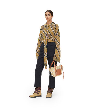 LOEWE Belted Sweater Oro/Negro front
