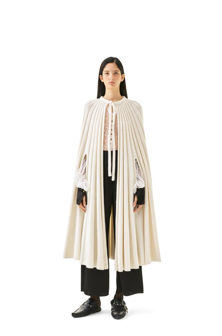 LOEWE Knit cape in cashmere Ecru pdp_rd