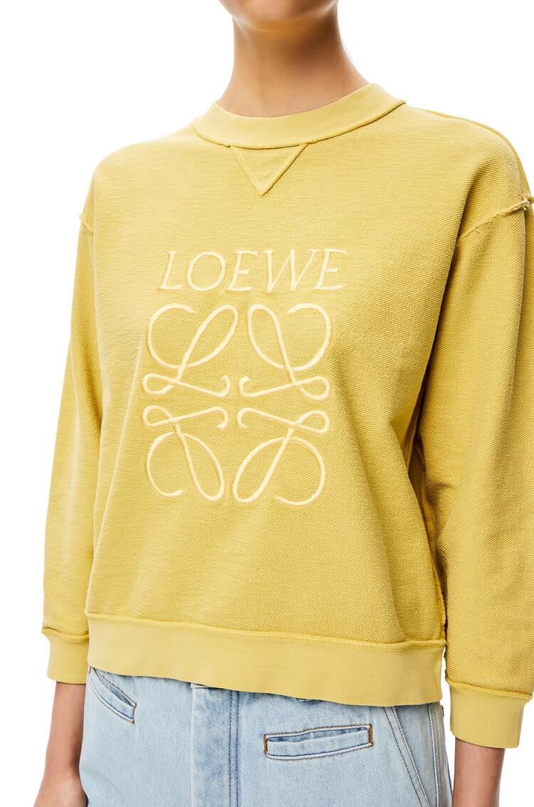 LOEWE LOEWE anagram embroidered sweatshirt in cotton Light Yellow pdp_rd