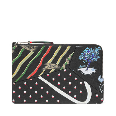 LOEWE Paula Puzzle Flat Pouch Multicolor front