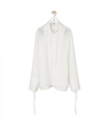 LOEWE Tie Shirt 白色 front