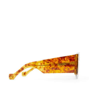 LOEWE Fw19 Acetate Mask Sunglasses Amber/Gradient Brown front