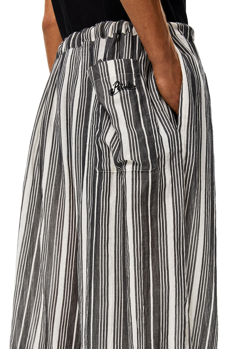 LOEWE Shorts in striped cotton Black/White pdp_rd