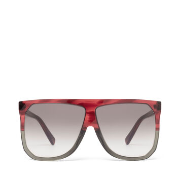 LOEWE Filipa Sunglasses Burgundy/Grey/Gradient Grey front
