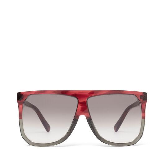 LOEWE Gafas Filipa Burdeos/Gris/Gris Degradado front