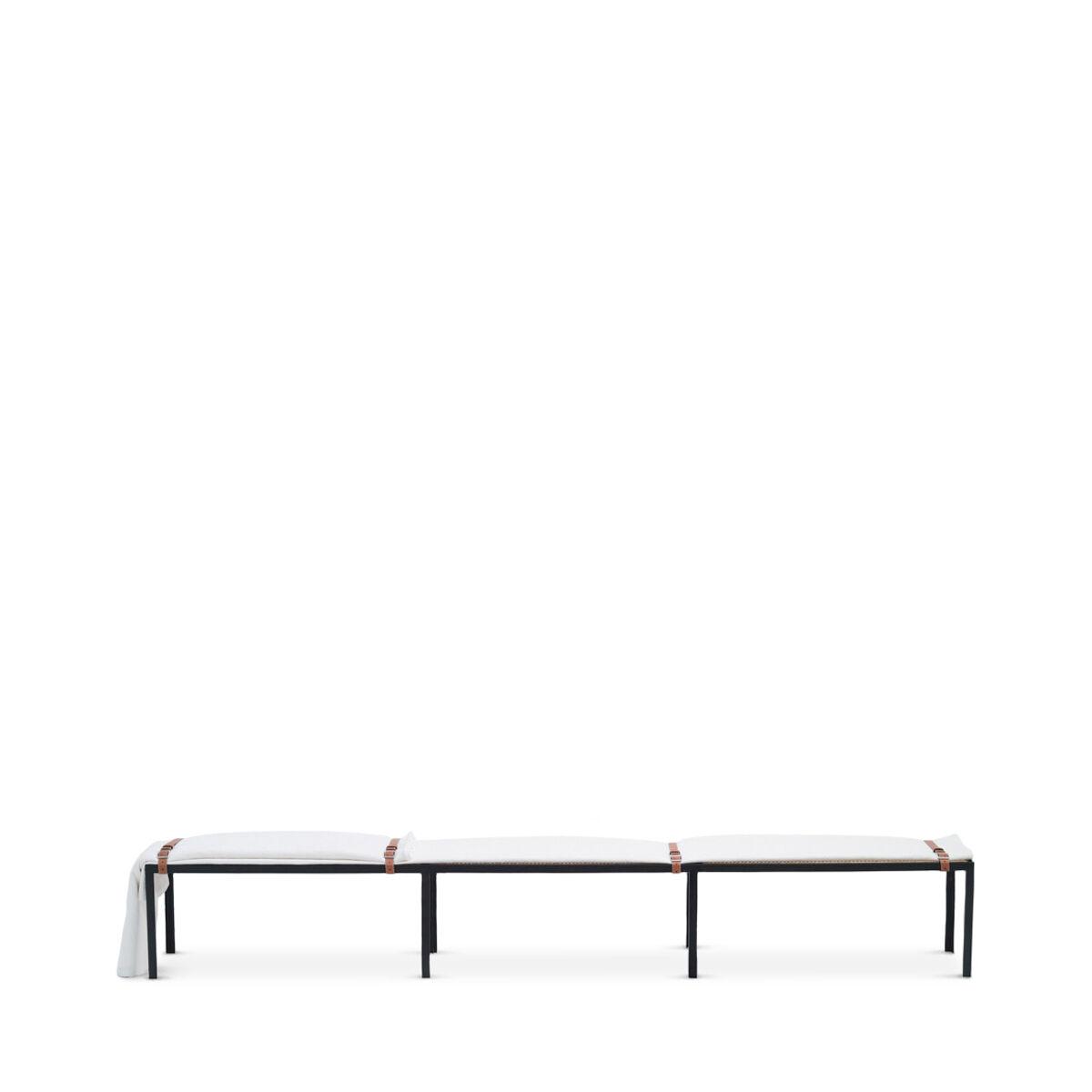 LOEWE Set Long Bench With Blanket ブラック/マルチカラー all