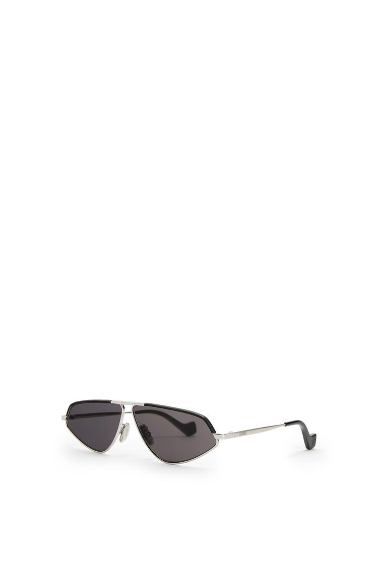 LOEWE Leather Geometric Sunglasses 深煤灰 pdp_rd