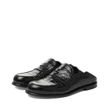 LOEWE Slip On Loafer 黑色/黑色 front