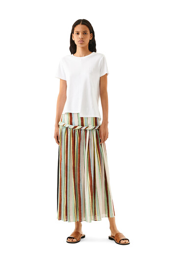 LOEWE Stripe Skirt Pink/Green/Light Blue front