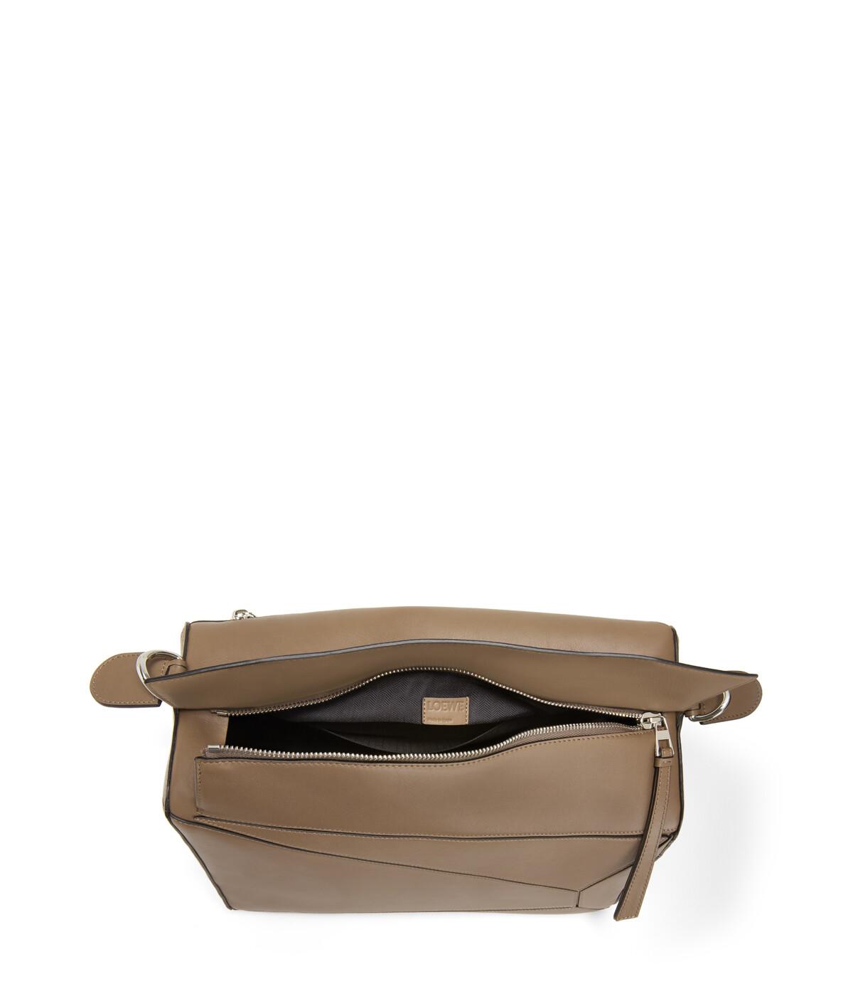 LOEWE Puzzle Xl Bag Dark Taupe front