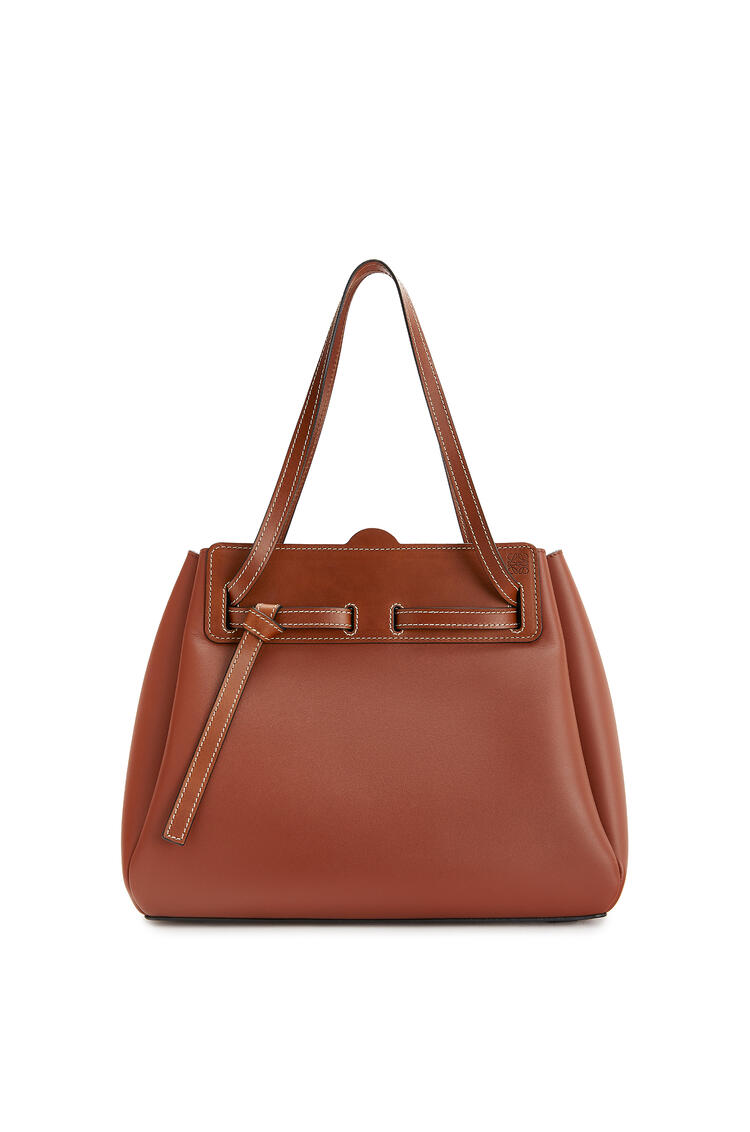 LOEWE Lazo shopper bag in natural calfskin Rust Color pdp_rd