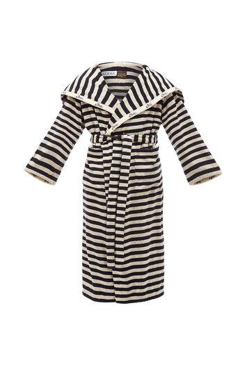 LOEWE Paula Stripe Towel Coat Navy/Off-White front