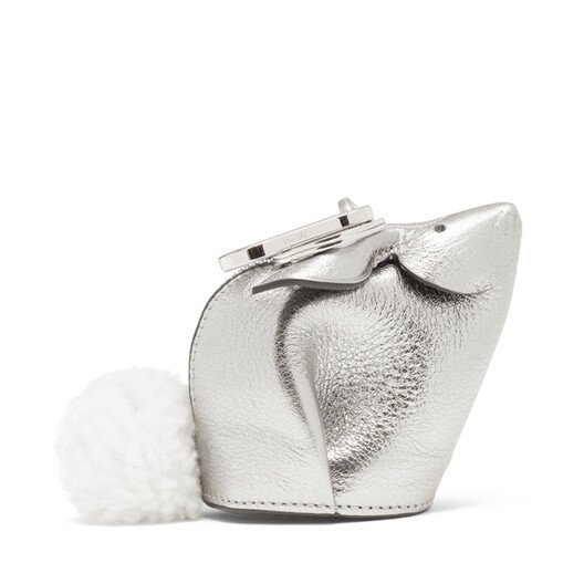 LOEWE Bunny Charm Silver front