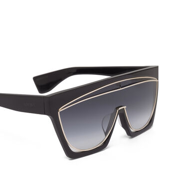 LOEWE マスクサングラス Black/Gradient Smoke front