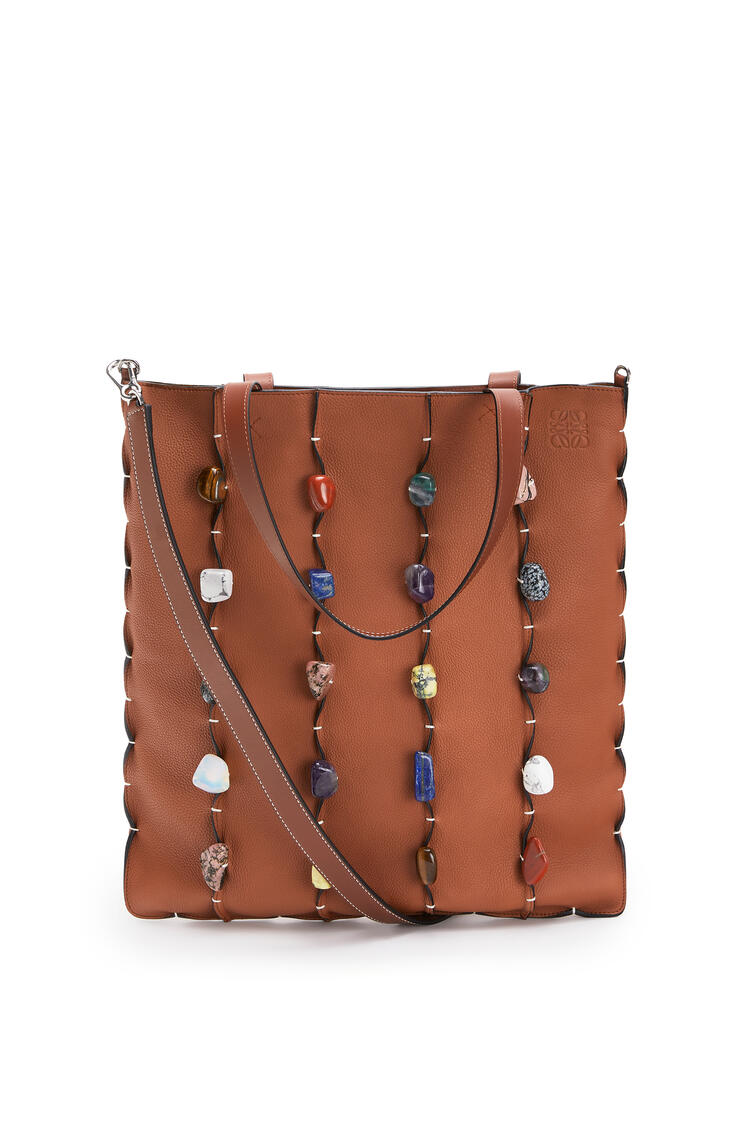 LOEWE Vertical Tote bag in soft grained calf Tan pdp_rd