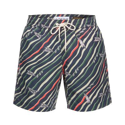 LOEWE Swimshort Paula Flags Black/Multicolor front