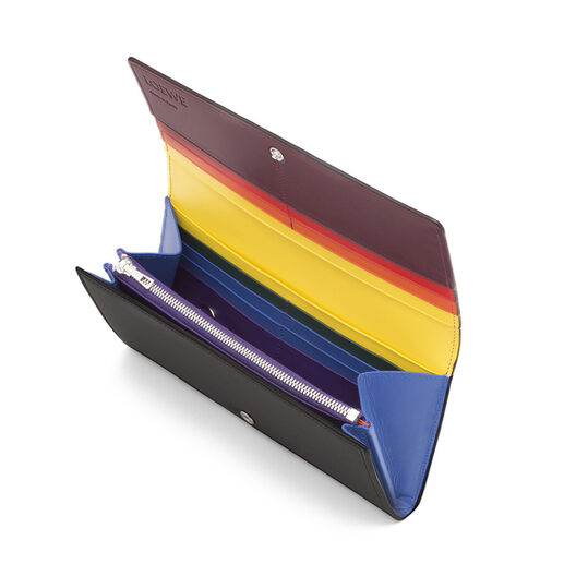 LOEWE Rainbow Continental Wallet Multicolor/Black all