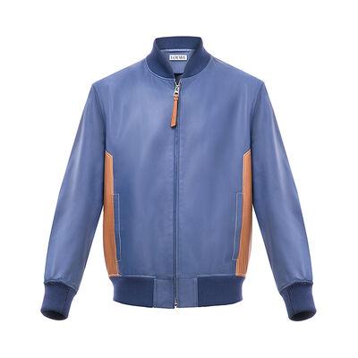 LOEWE Blouson blue/tan front
