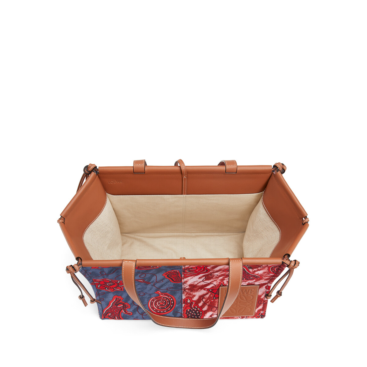 LOEWE Paula's Cushion Tote Prints 蓝色/红色 front