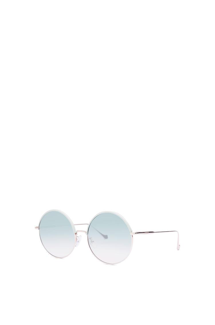 LOEWE ラウンド サングラス(メタル&カーフスキン) Sky Blue/Gradient Turquoise pdp_rd