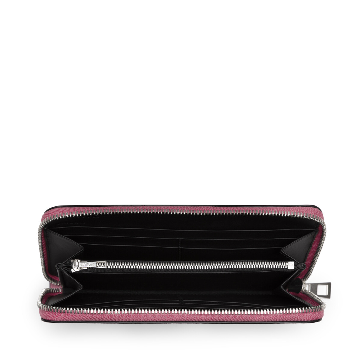 LOEWE Zip Around Wallet Wild Rose/Raspberry front
